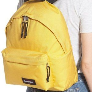 New EASTPAK Padded Pak'r  Backpack Canoe Yellow
